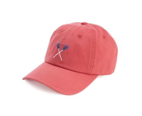 The crossed sticks say it all! Let this Vineyard Vines Lacrosse Icon Hat in Jetty Red put you front and center of your favorite sport. · 100% cotton · 23 inch circumference with adjustable closure · U