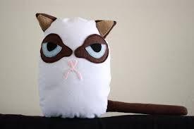 Angry cat plush plushie diy. Grumpy cat plush