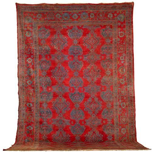 Oriental Rugs Red Bank Nj: Red And Blue Turkish Ushak Medallion Rug Very Similar To