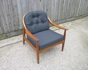 Greaves thomas armchair teak retro vintage danish 50s 60s 70s era no sofa ebay danish - Selig z chair reproduction ...