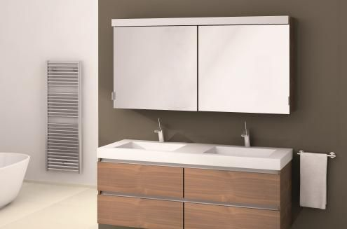 Verdeler dubbele wasbak voor badkamers   Assenti