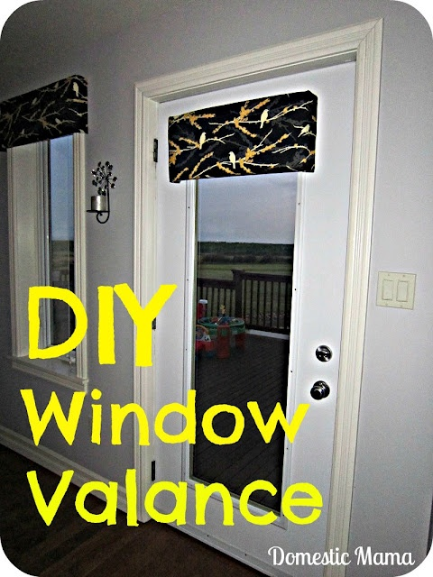 Diy Window Valance Foam Board Batting Fabric Duct