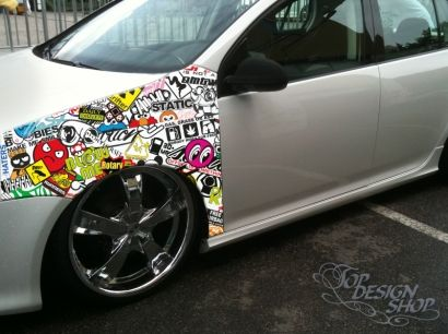 Topdesignshop wandtattoo aufkleber und gravuren shop sticker bomb folie style car wrapping stickerbomb tuning