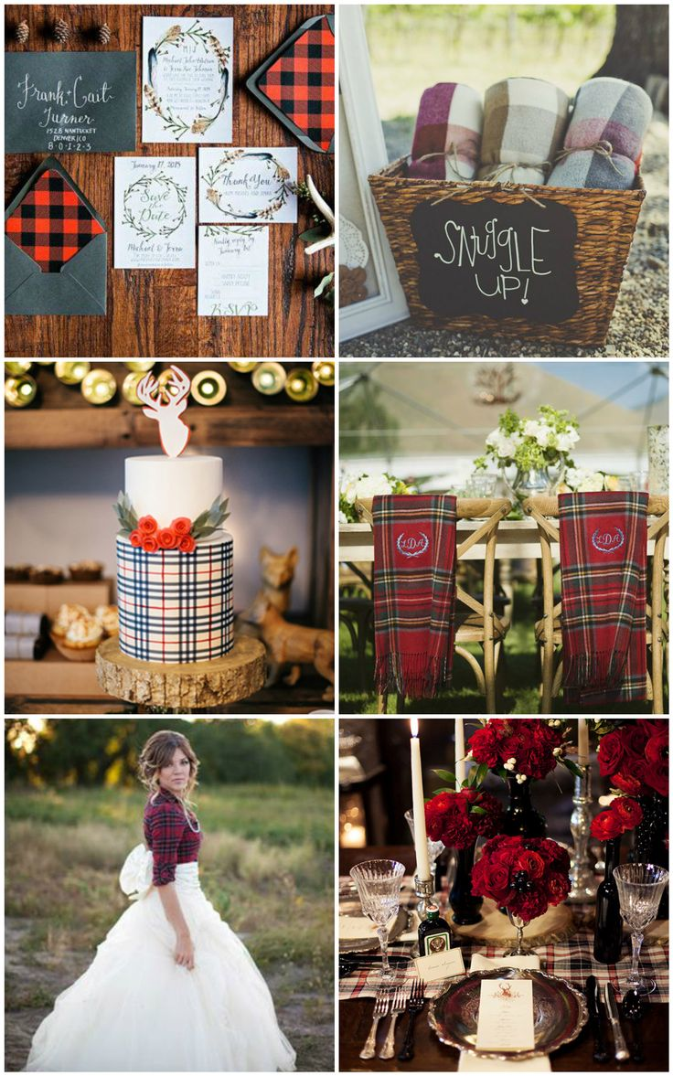 Why You Want to Have a Winter Wedding | A Collaboration Post Today on 2brides2be | winter wedding design inspiration | wedding decor using textures and cozy elements | plaid wedding | flannel wedding
