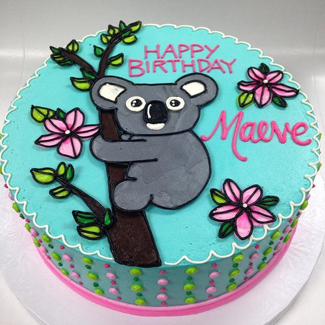 Buttercream Koala Birthday Cake