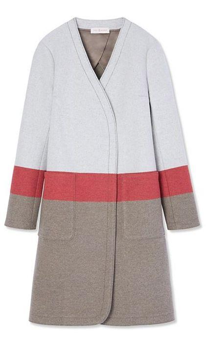 Tory Burch Stripe Blanket Coat