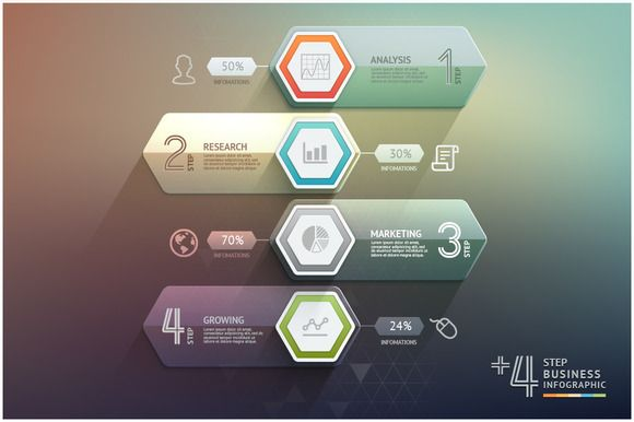 Check out Business Arrow Step Infographics by Graphixmania on Creative Market