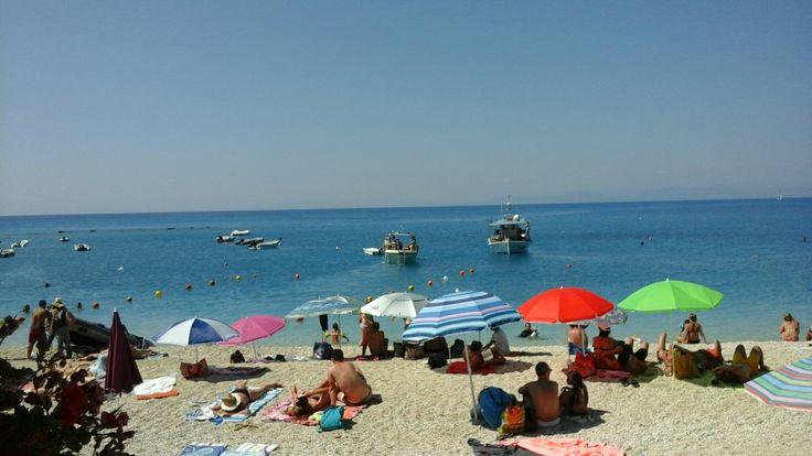Summer holidays: Agios Nikitas village: Lefkada island: Greece