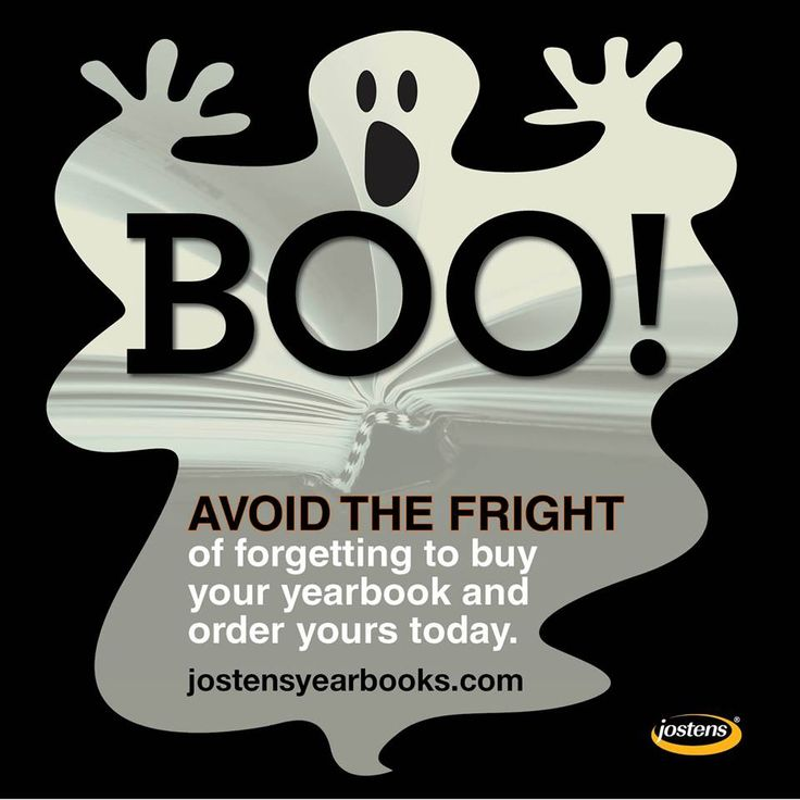 THIS HALLOWEEN // Avoid the fright, and order your 2014 yearbook on www.jostensyearbooks.com #yearbook