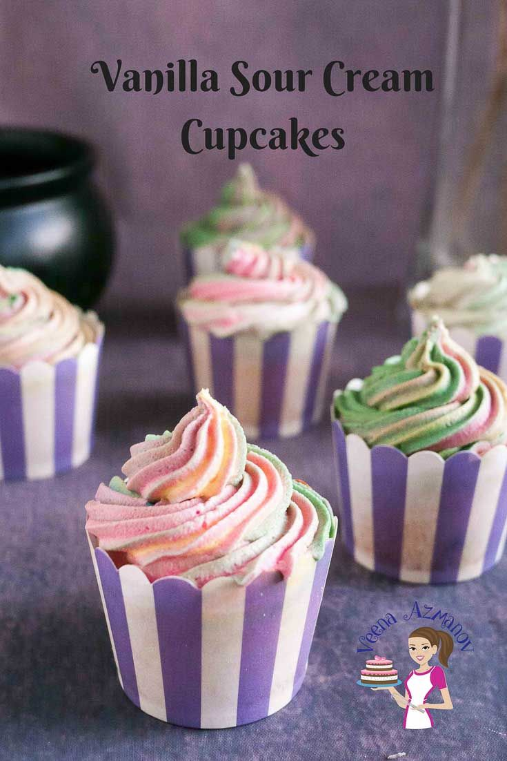 Learn To Make The Best Moist Vanilla Sour Cream Cupcakes That A Light And Fluffy With A Soft Crumb Fun Cupcake Recipes Gourmet Cupcake Recipes Cupcake Recipes