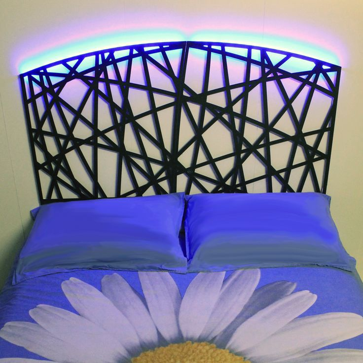 Headboards. Headboards for double bed with modern design made of metal with laser cutting technology. Wedding present. nikla.eu
