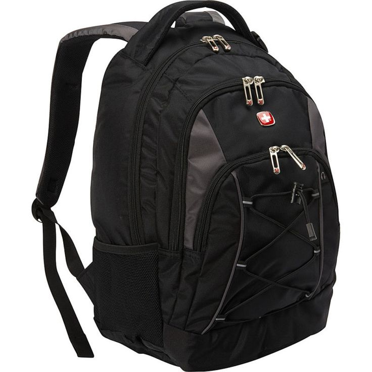 SwissGear Travel Gear Bungee Backpack - Black/Grey Business & Laptop Backpack SwissGear backpackAudio interface with headphone pull throughPadded shou... #laptop #backpack #tablets #bags #networking #desktop #accessories #computers #cases #business #gear #travel #bungee #black #grey #swissgear