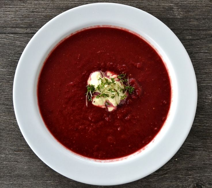 clubzimmer: Rotkohl-Rote-Bete Suppe