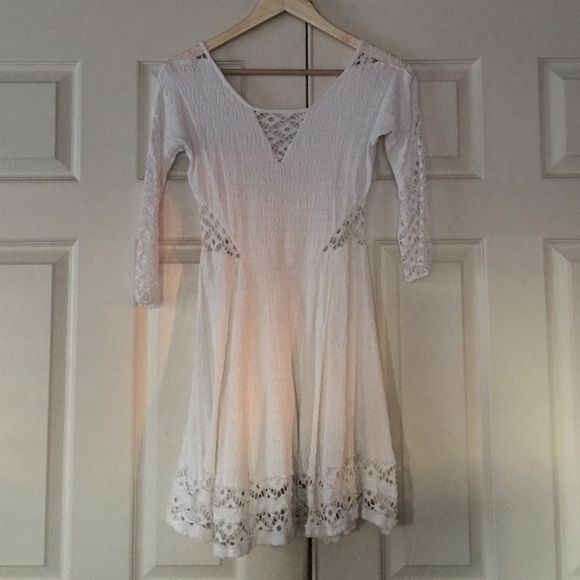 Free People White Dress Never worn new without tags Free People Dresses Long Sleeve