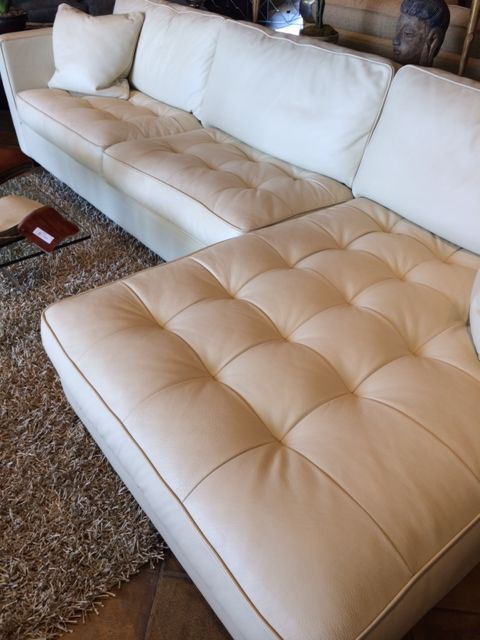 Eleanor Rigby Custom Leather Sectional At Sofa Designers In San Diego