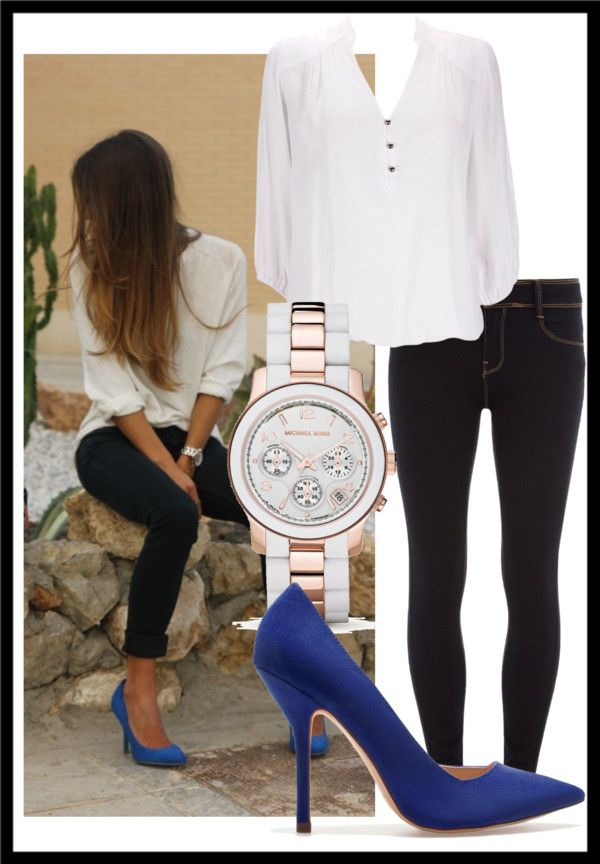 """""""Blue Suede Pumps"""" by sammerrzzz on Polyvore"""