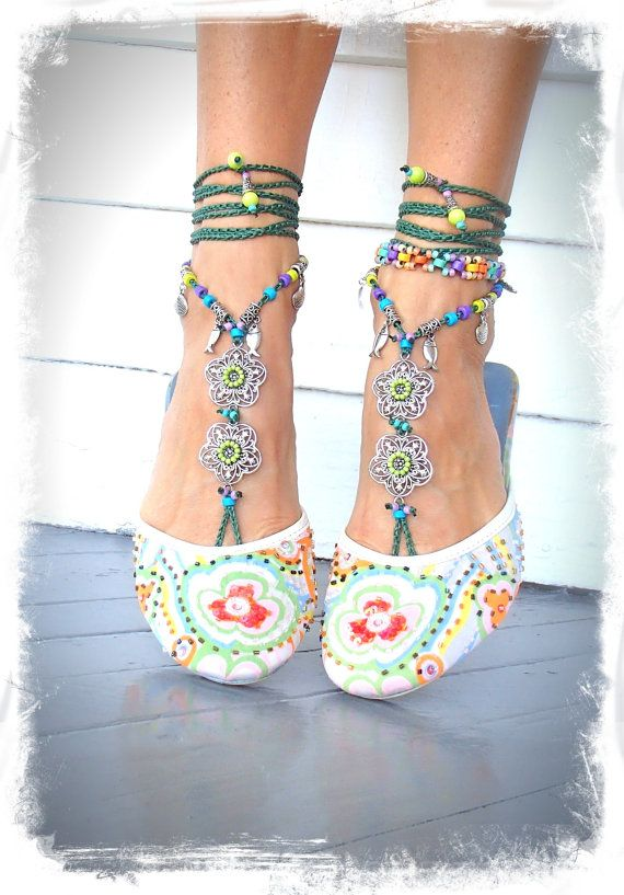 Del Mar BAREFOOT sandals Emerald Green Toe thongs by GPyoga, $79.00