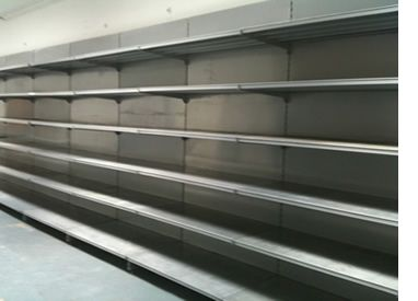 used supermarket shop shelving