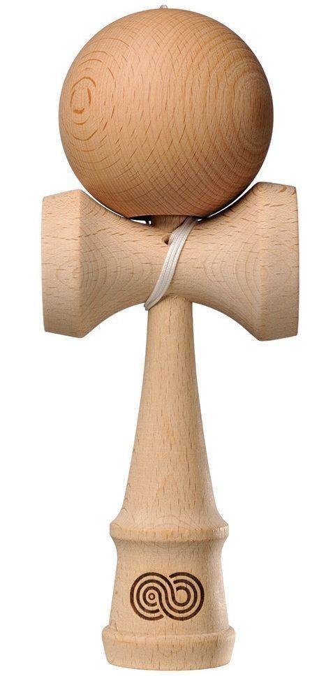 Kendama Kaizen Beech Wood Natural Wooden Skill Toy