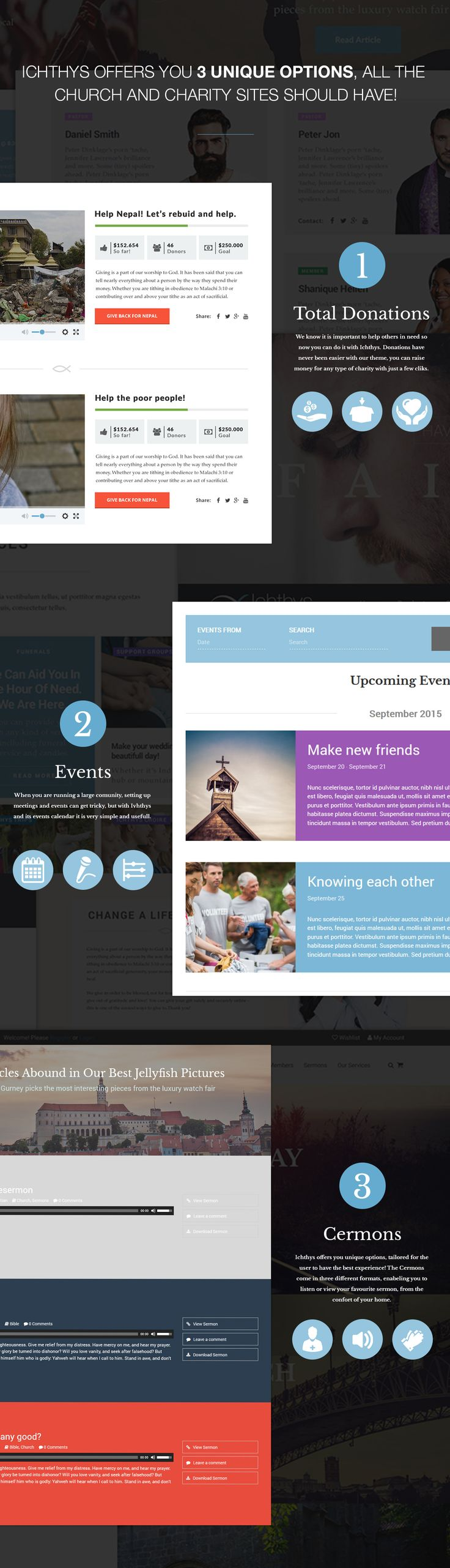 Ichthys - Church / Events / Religion / Donation / Nonprofit / Sermon / Charity WordPress Theme by modeltheme