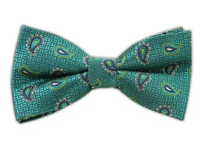 Cobblestone Paisley - Teal (Bow Ties) | Ties, Bow Ties, and Pocket Squares | The Tie Bar