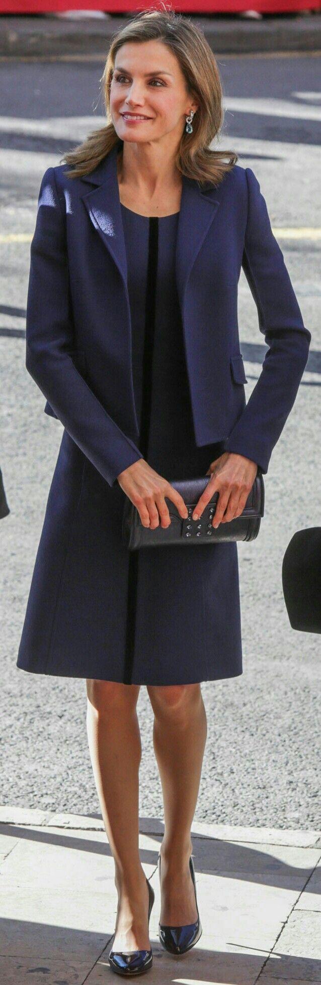 Letizia - Felipe Varela dress + handbag, Magrit pumps, Bvlgari earrings