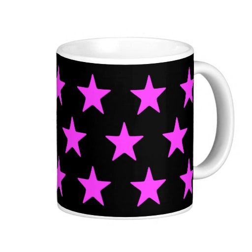 Pink Stars On Black Mug  Perfect for your pink and black home decor   #stars #kitchen #lounge #diningroom #white #blackandwhite #his #hers, #male #female #drink #drinking #black #lounge #diningroom #white #multicoloured #kitchen   #hers #male #female #drink #drinking #colourful #colours #designer #his   #chic #retro #modern #stylish #cute #vintage #style #radiant #happy    #birthday #anniversary #xmas #occasions #beautiful #home #bedroom    #bright #bold #love #pink
