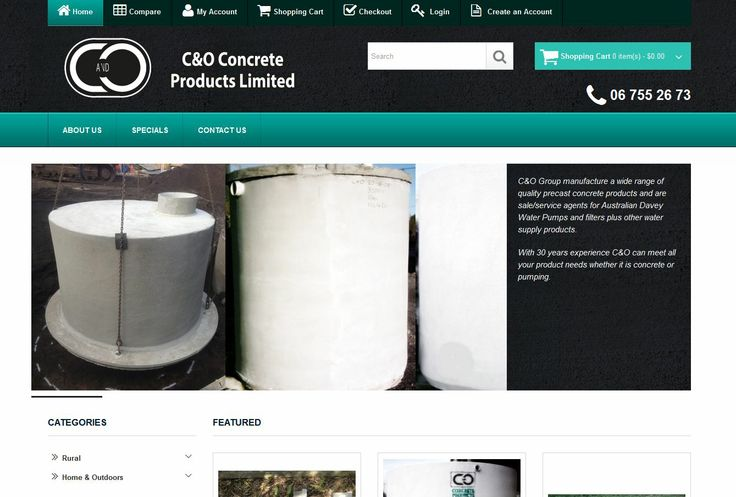 C&O Group manufacture a wide range of quality precast concrete products and are sale/service agents for Australian Davey Water Pumps and filters plus other water supply products. With 30 years experience C&O can meet all your product needs whether it is concrete or pumping.