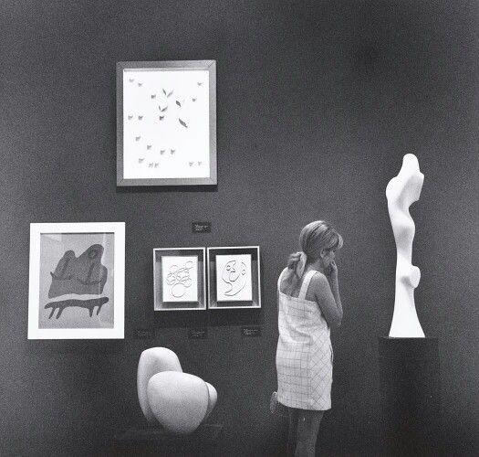 John Gutmann,  The Arp Room,  MOMA,  New York City,  1968