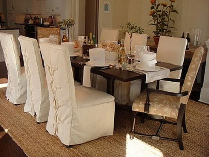 awesome chair covers dining room pictures - home design ideas