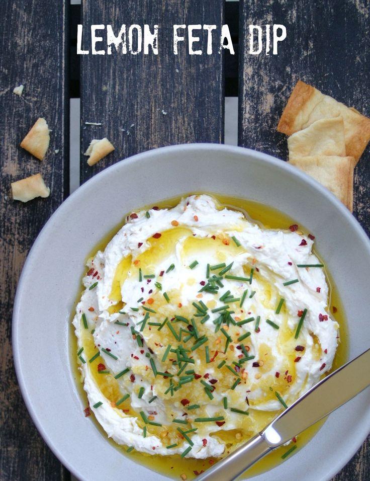 Lemon Feta Dip | A Nutritionist Eats