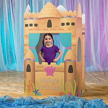 Our Mermaid Princess 3D Castle has the look of a sand castle under the sea with seashell accents and more.
