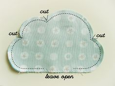 Coudre un nuage - prochaine projet couture pour faire un nouveau coussin pour le bureau !
