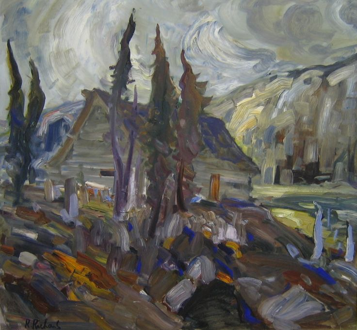 Rene Richard | artistes du Québec | Abstract landscape ...