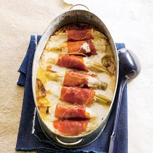 Recept - Witlof met geitenkaas en ham - Allerhande