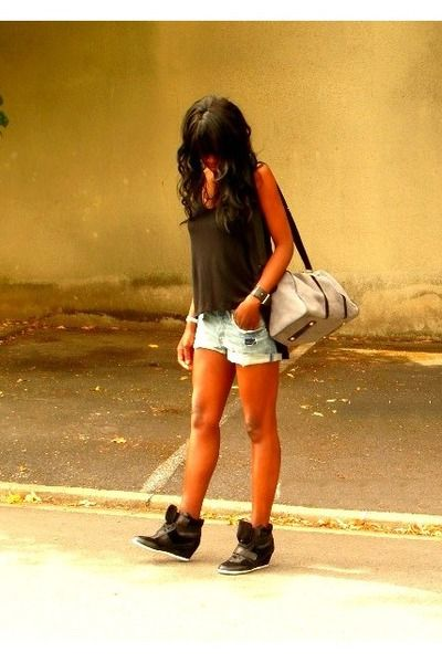Wedge sneakers -I've been seeing these not sure how to pull it off but this girl looks like she did :)
