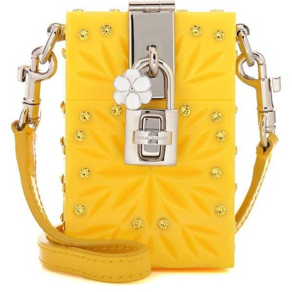 Dolce & Gabbana Dolce Box Cinderella Mini Shoulder Bag ($2,055) ❤ liked on Polyvore featuring bags, handbags, shoulder bags, clutches, yellow, mini purse, dolce gabbana shoulder bag, dolce gabbana handbags, shoulder bag handbag and miniature purse