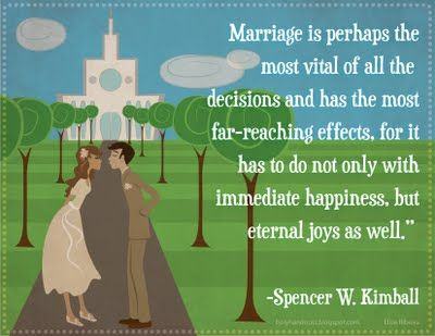 A handout I made for the LDS YW Lesson 36: Marriage Standards.  Feel free to use!
