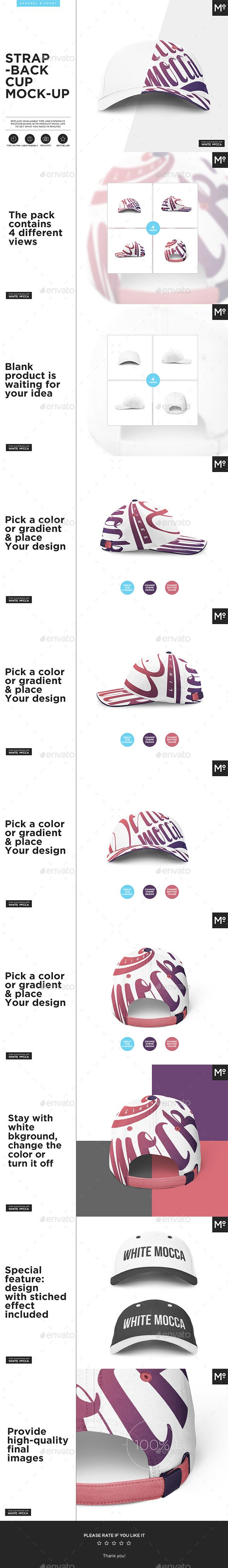 The Strapback Cap Mock-up - Miscellaneous Product Mock-Ups