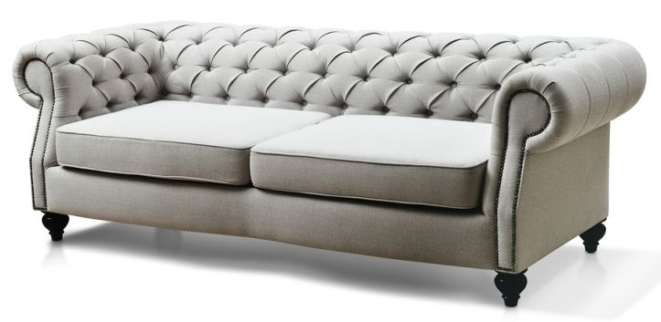 - Sitting Pretty Tufted Sofa, Grey And Lights