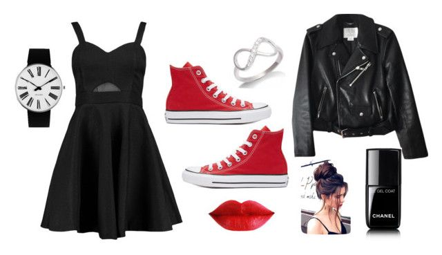 """""""Sans titre #9"""" by lauriedesjardins on Polyvore featuring mode, Boohoo, Converse, Kate Spade, Chanel et Rosendahl"""