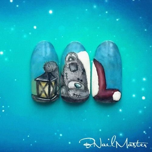 Hand Painted Christmas Teddy Bear Tutorial