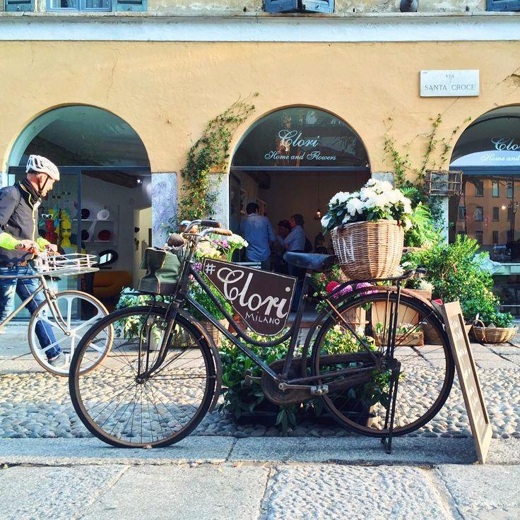 Home & Flowers Milano #milan #milano #sorridiMI #viacolviaggio #mycity #sunset #instapic #instagood #instalike #instawalk #iphone6 #igersmilano #igers #milanocity #milanodavedere #milano2015 #travelblog #travelblogger #città #colori #fiori #flowers #clorimilano #clori #bike #bicicletta #happyday #flowersmakemehappy by viacolviaggio