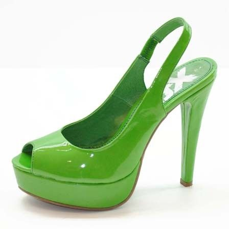 Xti - green shoes omg I want these!