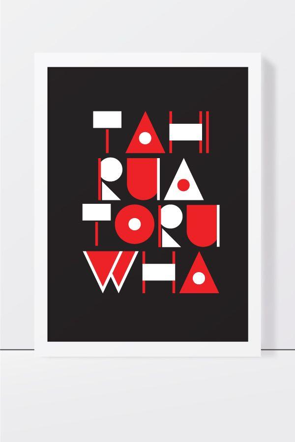 By Rakai Karaitiana - 1,2,3,4!   Art  Design Print