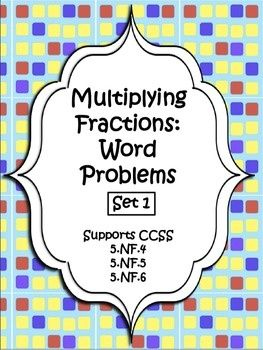 A week's worth of practice done for you!  Multiplying Fractions: Word Problems Pack 1