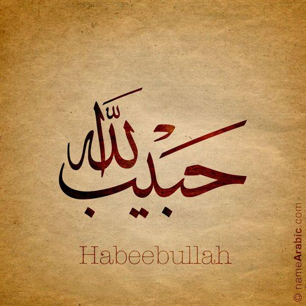 Arabic Calligraphy Design For Habeebullah