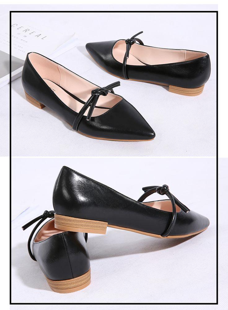 Весна и осень новых европейских и американских женщин синглов заостренным носом указал плоской обуви ноги плоские туфли с плоской обуви простые - Taobao