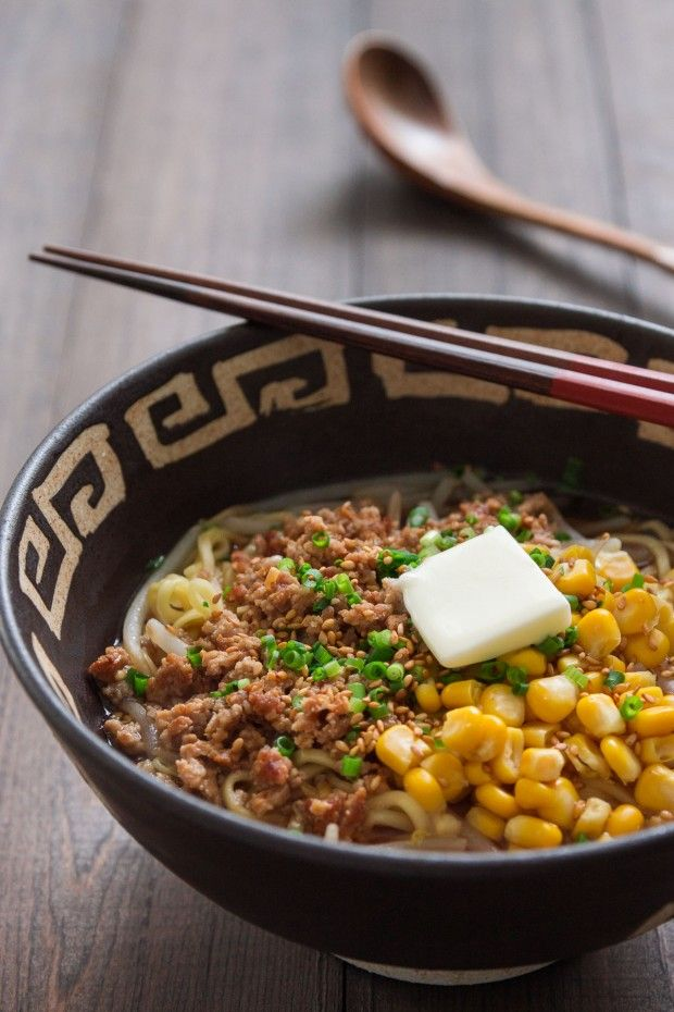 Hokkaido-style Miso Ramen - This quick miso ramen has a rich and hearty broth enriched with ground pork and butter.