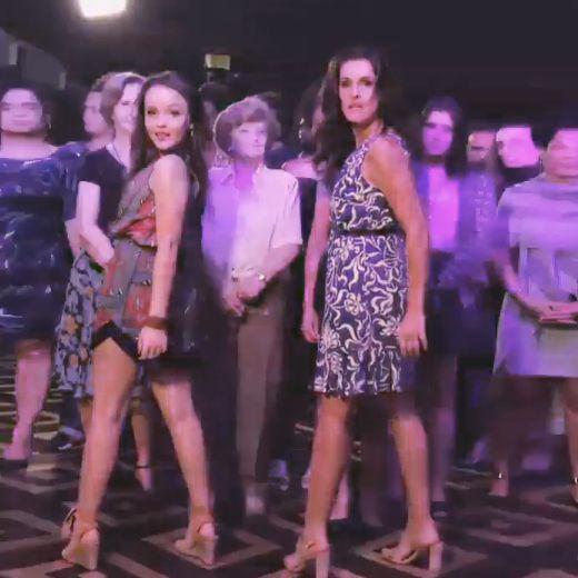 LOOKSLY - A atriz Ingrid Guimarães com nosso vestido estampado no filme Fala Sério, Mãe